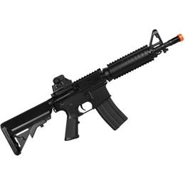Kit Rifle Airsoft CyberGun M4A1 Colt 361 fps AEG Preto + Munição BBs 0,20g BB King 4000 Unidades