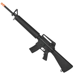 Kit Rifle Airsoft CYMA CM017 M16 380 fps AEG Hi-cap + Munição BBs 0,12g BB King 1000 Unidades