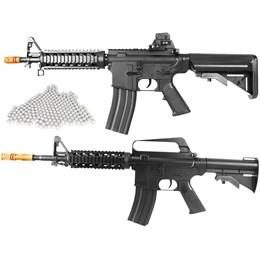 Kit Rifle Airsoft Vigor VG M4RIS CQB Spring + Rifle Airsoft Vigor VG M16RIS Spring + 2000 BBs 0,12g