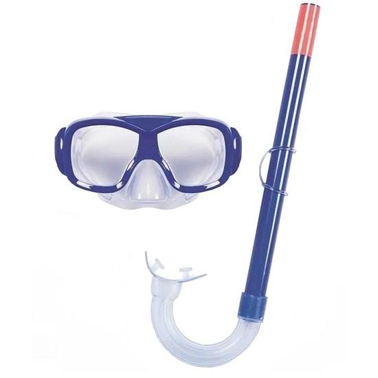 Kit Snorkel e Máscara Freestyle Bestway Azul Lente com Proteção UV