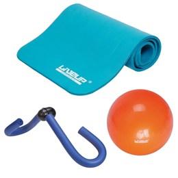 Kit Tapete de Exercícios + Borboleta Adutora + Overball 25cm Liveup