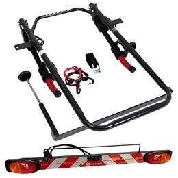 Kit Transbike para Estepe Porta Malas 2 Vagas Altmayer AL-246 + Sinalizador de Encaixe em Transbike