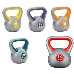 Kit Vinyl Kettlebell 4kg, 6kg, 8kg, 10kg e 14kg ProAction G195 G196 G197 G198 G255