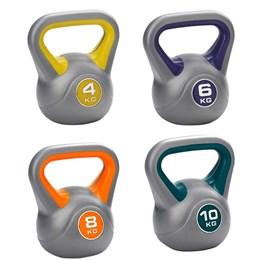 Kit Vinyl Kettlebell 4kg, 6kg, 8kg e 10kg para Crossfit 24cm ProAction G195 G196 G197 G198