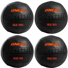 Kit Wall Ball Bolas de Couro 4 6 8 e 10 Kg p/ Crossfit e Treinamento Funcional Oneal