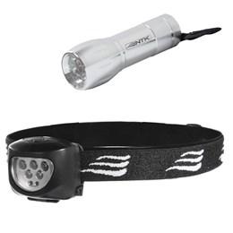 Lanterna de Cabeça 7 LEDs Dragster + Mini Lanterna 9 LEDs Blitz Nautika