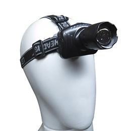 Lanterna de Cabeça Alfacell LED 3 Modos de Iluminação Preto