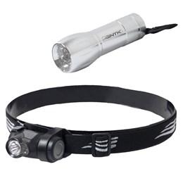 Lanterna de Cabeça Boost 1 LED Super Bright + Mini Lanterna 9 LEDs Blitz Nautika