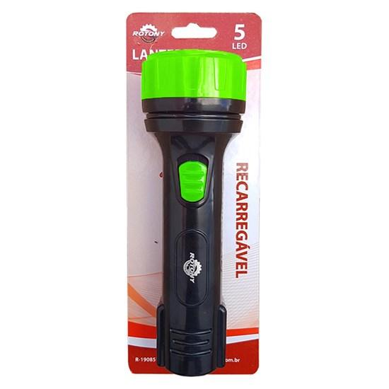 Lanterna Recarregável da Rotony Bivolt Uso Contínuo de Até 10 Horas com 5 Led's 400A