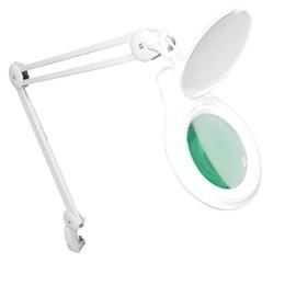 Lupa de Bancada Solver HL-410 LED 8D + Lupa de Mão Slp-185 Dupla Led 2,5x 20x