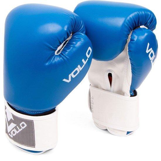 Luva de Boxe COMBAT 8 OZ Azul Vollo VFG304-8