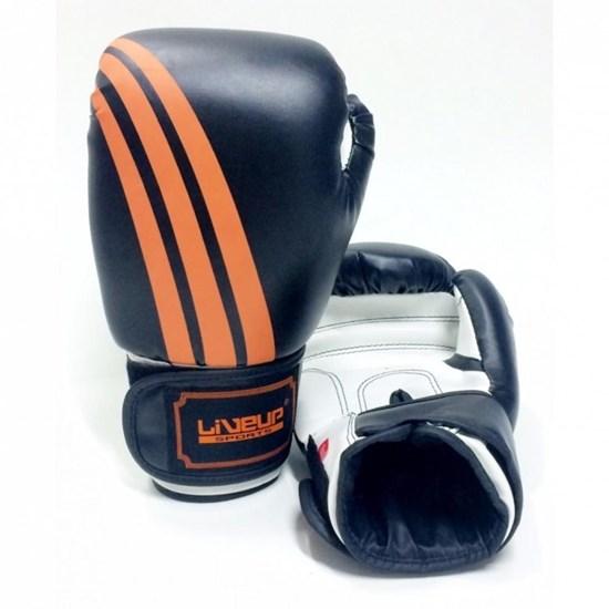 Luva De Boxe e Muay Thai 16 Oz Preta com Laranja - Liveup Sports LS3086E