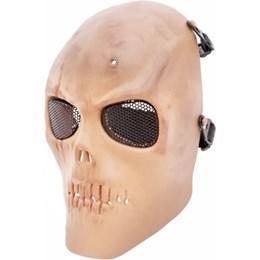 Mascara de Proteção Caveira Tan Airsoft com Tela em Metal - Highlander HY-049T