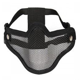 Máscara Meia-face com Tela e Alça Regulável para Airsoft Tático