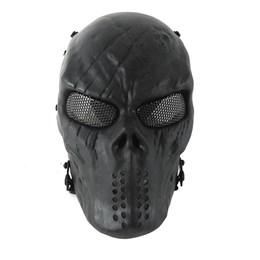 Máscara Proteção Airsoft NTK Tático Full Face Skull Lente Metal Telado