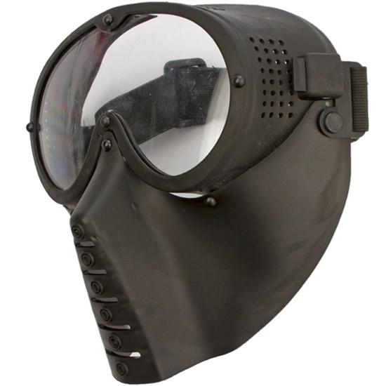 Máscara Tática de Proteção Airsoft Ajustável Lente em Policarbonato