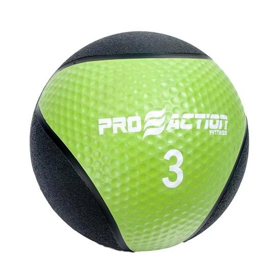 Medicine Ball 3 Kilos Feita de Material Emborrachado Proaction G192