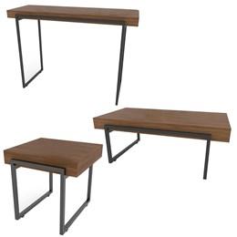 Mesa Aparador em MDF + Mesa de Centro Decorativa + Mesa de Canto Personality