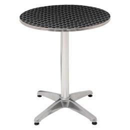 Mesa Redonda MOR em Alumínio com 60 CM Diâmetro + 2 Cadeiras