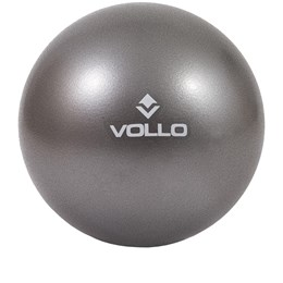 Mini Bola Overball 25cm Vollo VP1082 Cinza para Pilates e Yoga