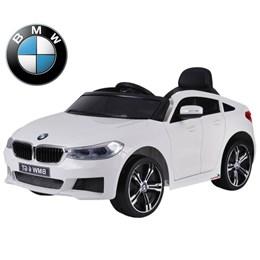Mini Carrinho Elétrico Infantil Importway BMW 6 GT Branco a Bateria 12v
