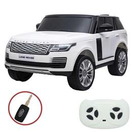 Mini Carro Elétrico Importway Land Rover Branco com 2 Bancos de Couro e MP5