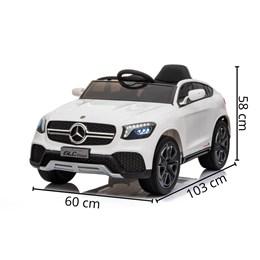 Mini Carro Elétrico Importway Mercedes Benz GLC Coupe Concept 12V Branco