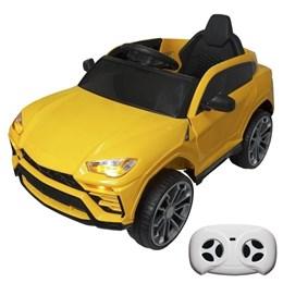 Mini Carro Elétrico Infantil Esportivo Importway BW029 Amarelo com Controle Remoto