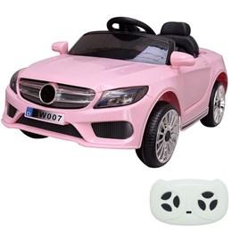 Mini Carro Elétrico Infantil Importway BW-007RS Rosa Com Controle Remoto