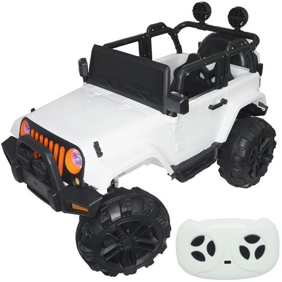 Mini Carro Elétrico Infantil Importway BW028BR 12V Branco com Controle