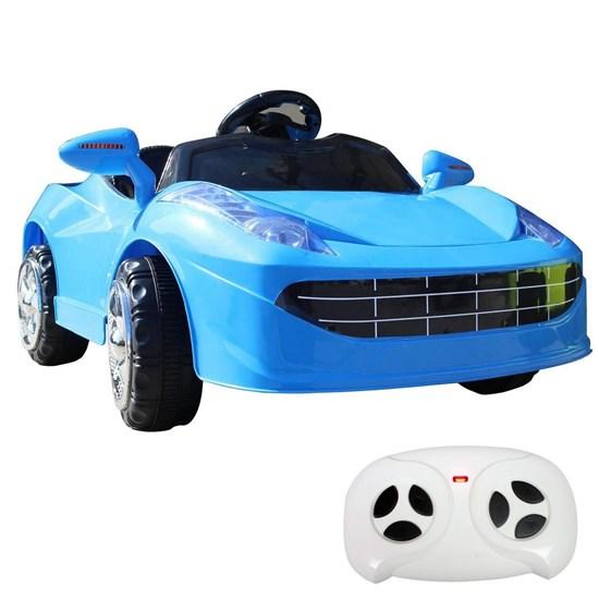 Mini Carro Elétrico Infantil Importway BW097 Azul 6V Com Controle Remoto