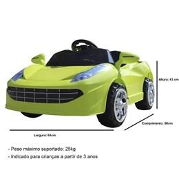 Mini Carro Elétrico Infantil Importway BW097 Verde 6V Com Controle Remoto