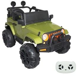 Mini Carro Elétrico Jipe Infantil Importway BW028 Verde com Controle Remoto
