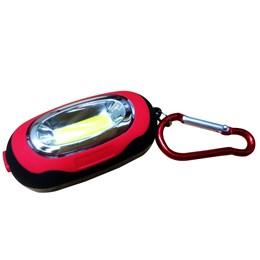 Mini Lanterna de LED ALFACELL ALL51114 a Pilha com Mosquetão e Imã Vermelho