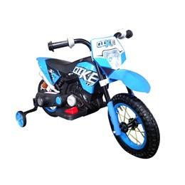 Mini Moto Cross Elétrica Infantil Importway Azul com Bateria Recarregável