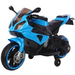 Mini Moto Elétrica Infantil 6V Importway Azul com Luz nas Rodas