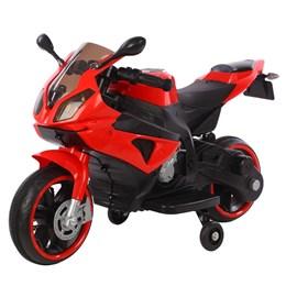 Mini Moto Elétrica Infantil 6V Importway Vermelho com Luz nas Rodas