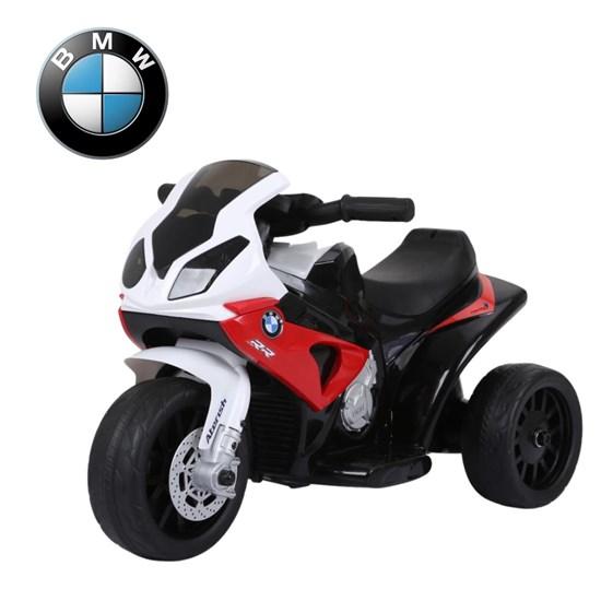 Mini Moto Elétrica Infantil Importway BMW S1000 RR Vermelha e Branca com Rodinhas