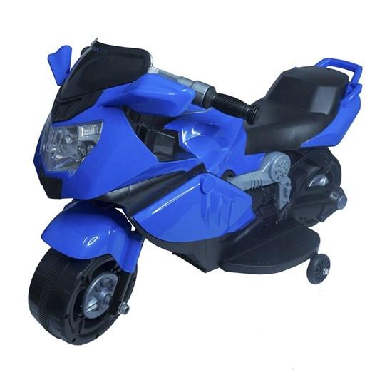Mini Moto Elétrica Infantil Importway BW044 com Luzes e Som Azul