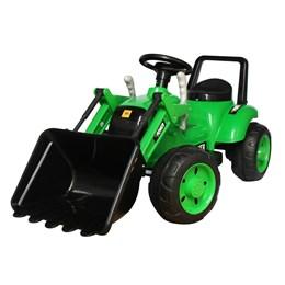 Mini Trator Infantil Elétrico Importway Verde 6V com Escavadeira