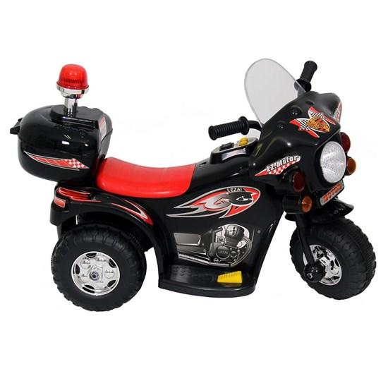 Mini Veículo Moto Police Infantil BW002-P Preta Importway
