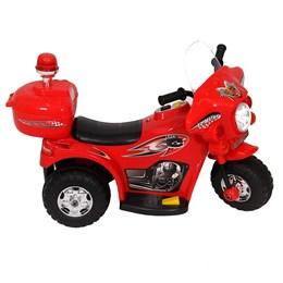 Mini Veículo Moto Police Infantil BW002-V Vermelha Miniway