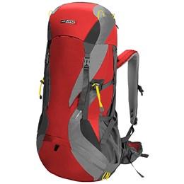 Mochila Cargueira 64 Litros Nautika Cymba GT para Trekking Vermelha e Cinza