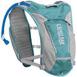 Mochila de Hidratação Camelbak Circuit Vest Feminina 1,5 Litros Trail Running Azul com Cinza