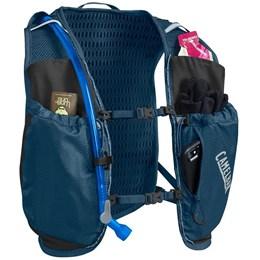 Mochila de Hidratação Camelbak Circuit Vest Feminina 1,5 Litros Trail Running Azul com Preto