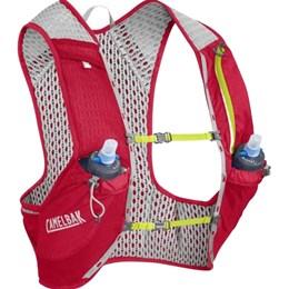 Mochila de Hidratação Nano Vest M CamelBak Vermelho para Ciclismo + 2 Garrafas