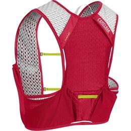 Mochila de Hidratação Nano Vest S CamelBak Vermelho para Ciclismo + 2 garrafas