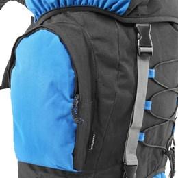 Mochila de Trekking Cargueira Intruder 60 Litros Azul e Preto - Nautika