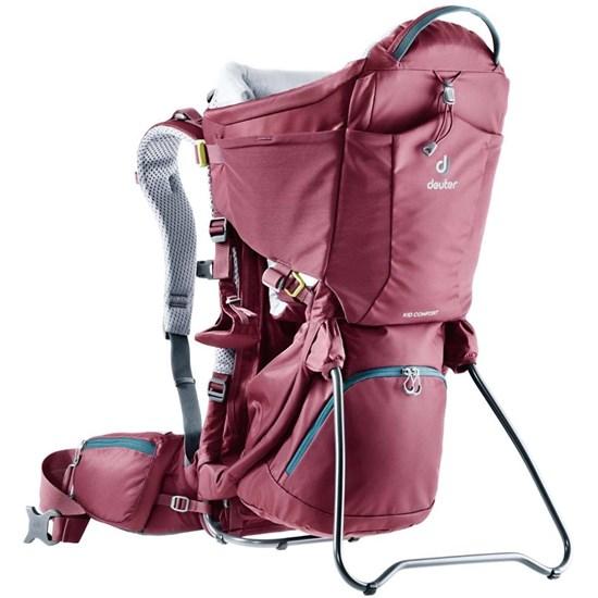 Mochila Deuter Kid Comfort Vermelha para Carregar Bebês até 21 kg