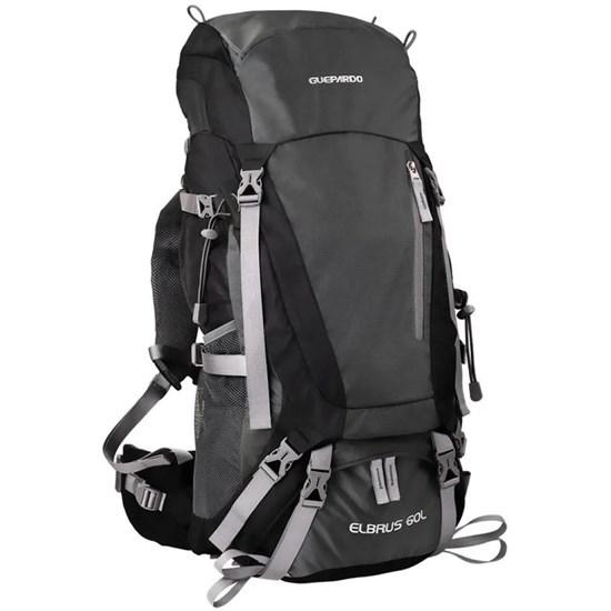 Mochila para Trekking 60 Litros Preta Guepardo Elbrus MB6002